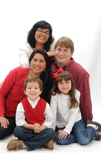 Mission co-worker Mark Adams and his family.