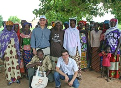Jim McDonald, center, on  a recent trip to Africa with Bread for the World.