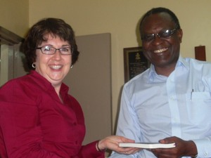 Dr. Elisee Musemakweli, President of the Presbyterian Church of Rwanda, with Rev. Debbie Braaksma, African Area Coordinator for the Presbyterian Mission Agency