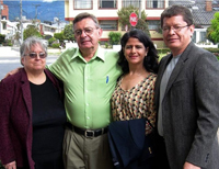 The Revs. Alice Winters, Craig Meyers, Adelaida Jimenez and Milton Mejia