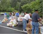 Monthly food distribution at Rabun Gap Presbyterian Church