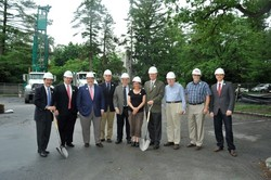 The groundbreaking ceremony for the geothermal system was May 30.