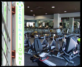 fitness workout room with cycles