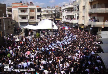 Palm Sunday at the Christian Quarter in the old city of Homs 2010.