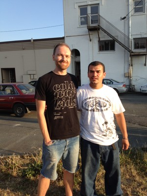 Chris Hoke (left), director of Tierra Nueva's gang ministry, and Ramon, a leader in the ministry.