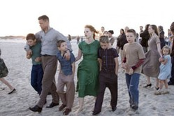 "From ""Tree of Life,"" the troubled O'Brien family during one of their happier moments at the beach."