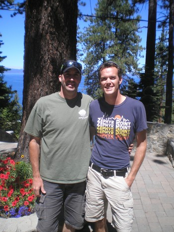 Jonathan Blose (left), who heads up Zephyr Point's children's and youth programs, and Joe Dalton (right), Zephyr Point's program director.
