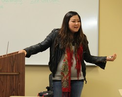 "Dr. Christine Hong, a Louisville Seminary adjunct professor, teaches her ""Multifaith Perspectives on Global Displacement"" class this spring. In July 2015, Hong will join Louisville Seminary's full-time faculty as assistant professor of worship and evangelism."