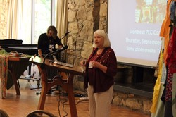 The Rev. Dr. Patricia Tull leads a plenary during the Presbyterians for Earth Care 2015 Conference in Montreat.