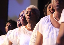 Members of the choir from St. James Presbyterian Church in Charleston, S.C., ended Big Tent 2013 on a high note with songs of joy at the closing worship service.