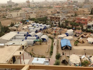A camp for internally displaced persons in Erbil, Iraq.