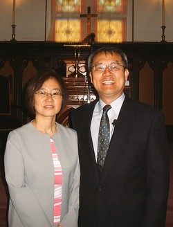 """Rev. Jason Ku, pastor of First Presbyterian Church, Holden, Missouri, with his wife, Dongsook """"Deborah"""" Ku."""