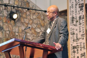 Columnist Leonard Pitts, Jr. spoke during the opening session of the weekend Teach-In at Montreat commemorating Dr. Martin Luther King Jr's. Message at the Christian Action Conference in 1965.