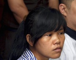 Mary Jane Veloso at her trial in Indonesia.