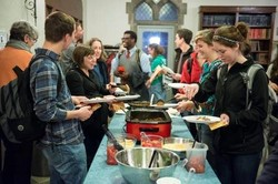 Sunday night meals at the Pres House help foster a sense of home and community at the Pres House—one of ten PC(USA) collegiate ministries receiving a campus ministry grant from Lilly Endowment.