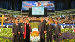 World Council of Churches delegation with Presbyterian Church in Taiwan leadership at the 150th anniversary celebration of the PCT.