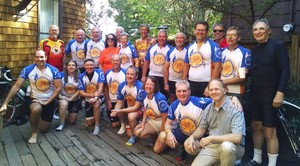 Participants in the 2014 Pedal for Protein along the California Coastline to raise funds for community food pantries. Riders included Bryce Wiebe (far left, front row), manager of special offerings for the PC(USA).