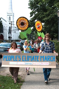 The Ithaca Climate March & Response was held in conjunction with the People's Climate March in New York City. Supporters across the globe gathered and marched on September 21, 2014 to raise awareness around climate change.