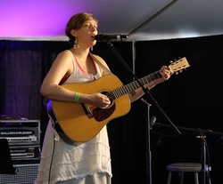 PC(USA) singer-songwriter Rebecca Stevens performs at the 2015 Wild Goose Festival.