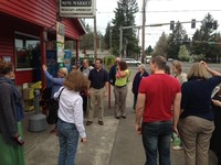 Members of the Presbyterian Hunger Program Advisory Committee visit one of the local grocery stores in the community of Rockwood, Oregon.