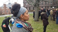 "Sabrina Slater at Princeton Theological Seminary, Walk Out ""Thy Kingdom Come,"" December 8, 2014."