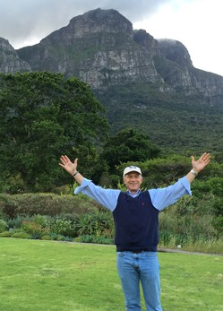 The. Rev. Scott Weimer at Table Mountain in Cape Town, South Africa.