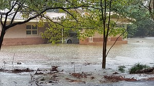 Houses in Richland County, South Carolina during last week's flooding.