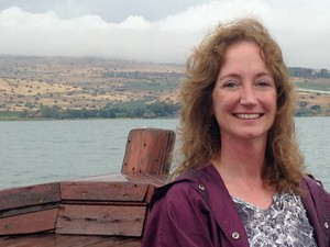 Susan Orr, 2014 MOP participant, on the Sea of Galilee boat tour.