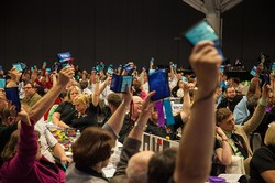 Members vote during the United Church of Christ General Synod 2015 in Cleveland.