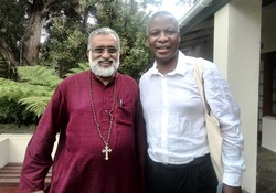 From left to right: Rev. Thomas Oommen, bishop of Madhya Kerala and deputy moderator of the Church of South India, and Archbishop Thabo Makgoba of the Anglican Church of Southern Africa.