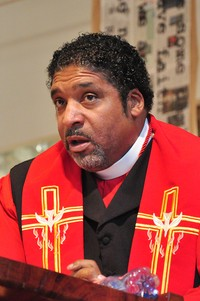 The Rev. Dr. William Barber II and Bishop Vashti Murphy McKenzie tell Montreat crowd to dig deep and aim for higher ground during Martin Luther King Jr. commemoration last weekend.