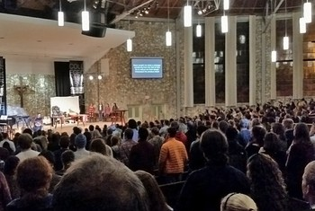 More than 1,100 students attended worship at the College Conference at Montreat.