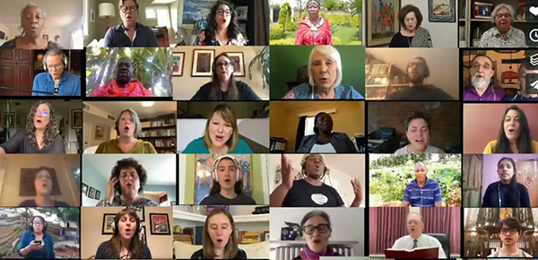 Virtual choir of International Peacemakers