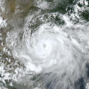 hurricane aerial image
