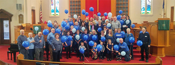 Park Presbyterian Church on Blue Shirt Sunday
