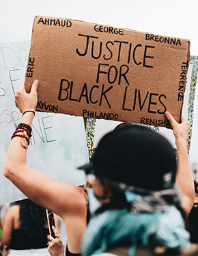 Justice for Black Lives sign