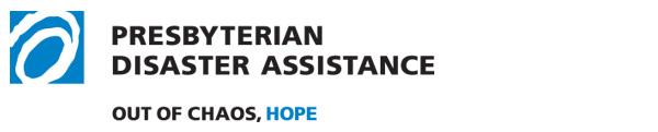Presbyterian Disaster Assistance banner