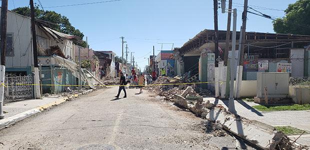 Puerto Rico earthquake street aftermath Jan 2020