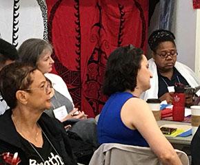 Revs. Denise Anderson, left, and Shanea Leonard, right