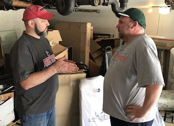 "Andrew Yeager-Buckley, manager of the ""Hands and Feet"" initiative, discusses the program with Neil Myer, director of UKirk at Michigan State University."