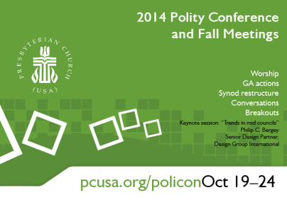 Polity conference and fall meetings graphic