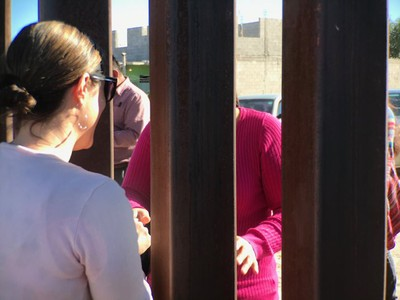 Amanda Craft with the Office of the General Assembly is at the border wall at Sunland Park, New Mexico, and Ciudad Juárez.