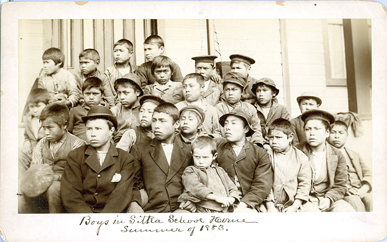 boys in sheldon jackson sitka school
