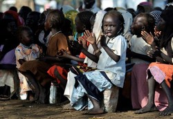Children at Gendress Refugee Camp in Upper Nile State