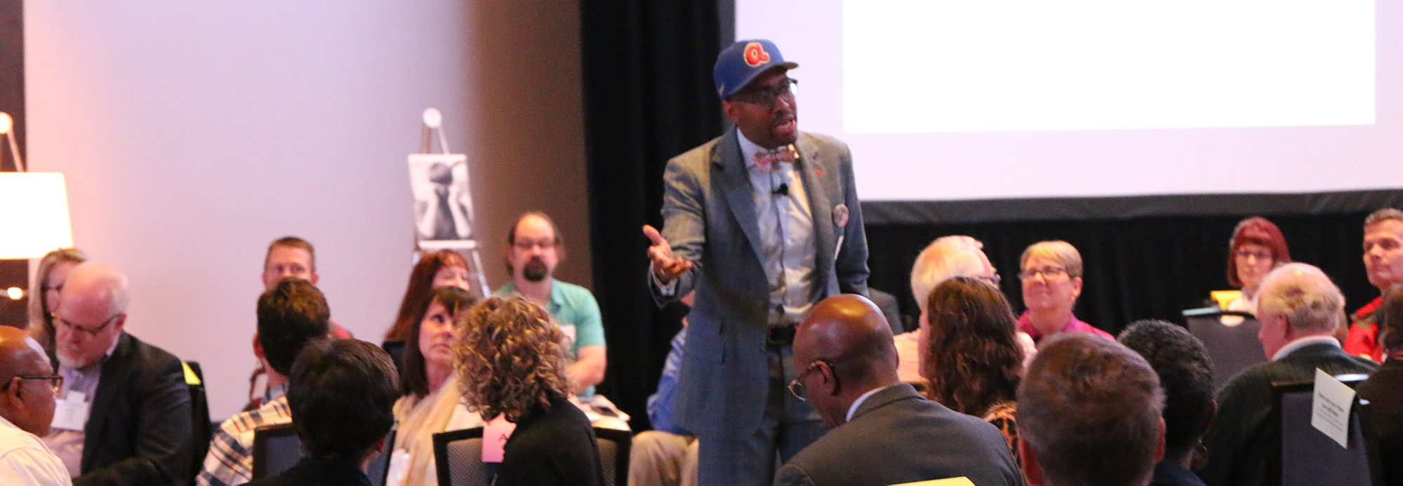 The Rev. Dr. Gregory C. Ellison II, founder of Fearless Dialogues, addressed the Mid Council Leaders Gathering in Chicago. Photo by Rick Jones.