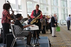 Marion Hayden Jazz Groove performing at Moderator Heath Rada's reception at the 221st General Assembly in Detroit, MI on June 15, 2014