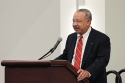 Frank James presents at the Ruling Elder Luncheon at the 221st General Assembly (2014) of the PC(USA) in Detroit, MI on Wednesday, June 18, 2014.