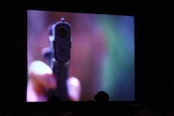 A showing of the documentary Trigger: The Ripple Effect of Gun Violence was held at the 221st General Assembly (2014) of the PC(USA) in Detroit, MI on Tuesday June,17 2014