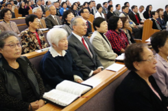 Worship at Vancouver Korean Presbyterian Church.
