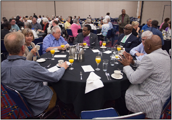 Participants at the Ecumenical Breakfast.